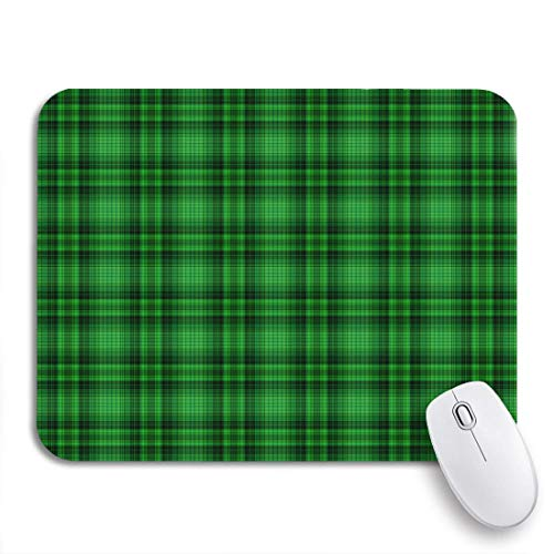 Gaming Mouse Pad Pattern Grün Plaid Irish Kelly Bright Check Karo Klee rutschfest Gummi Backing Mousepad für Notebooks Computer Maus Matten