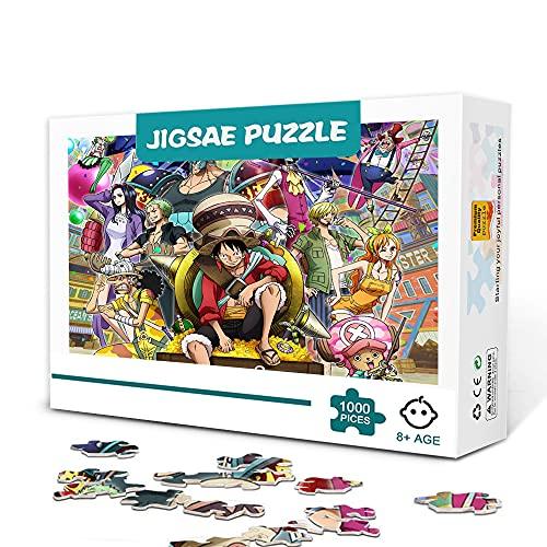 CHDBB Puzzle da 300 Pezzi Classic Anime One Piece Puzzle in Legno Set di Puzzle per Bambini Giochi educativi Regalo di intrattenimento 38x26 cm