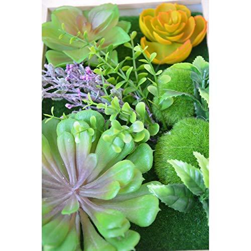 Jardín Vertical Decorativo con Plantas Artificiales Hogar y más - B