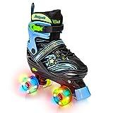 Xino Sports Adjustable Roller Skates for Children - Featuring Illuminating LED...