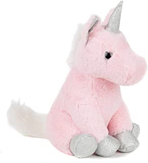 Lily's Home Cute Decorative Unicorn Weighted Interior Door Stopper, Compact with Soft Fabric Design
