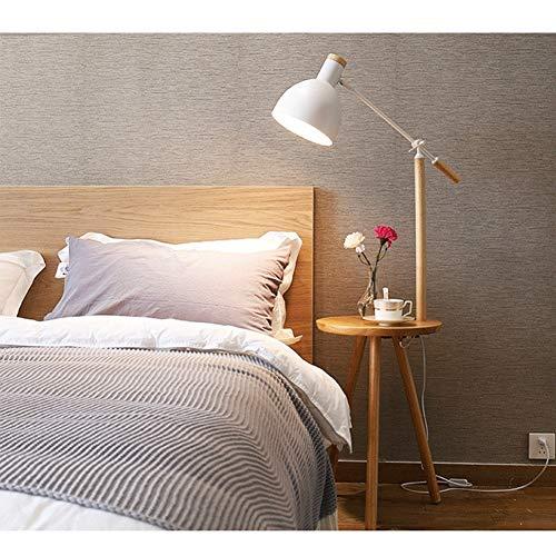 Lámpara de pie de madera ajustable con estantes para sala de estar, dormitorio, mesita de noche, lámpara de mesa creativa, 150 cm M02-03