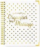 Organisateur De Mariage Francais - Planificateur de mariage - Livre de planification de mariage - Blanc et or - Version française