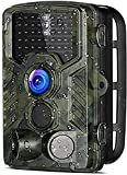 XINGHE Cámara de Caza 16MP Trail Cámara 1080P HD Cámara Nocturna Caza 46 IR Cámara de Vigilancia con Sensor de Infrarrojos IP56 Impermeable Infrarrojo 120 Angulo Amplio Sensor de Movimiento