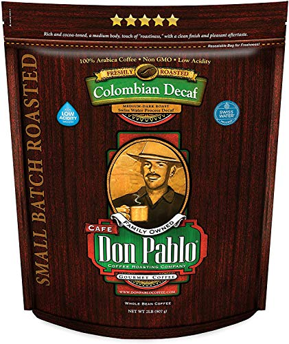 2LB Don Pablo Colombian Decaf - Swiss Water Process Decaffeinated -...
