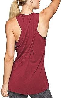 LOFBAZ Women Cross Back Yoga Shirt Activewear Workout Clothes Racerback Tank Top