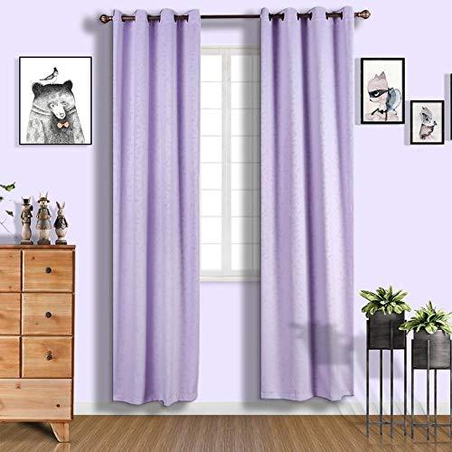 BalsaCircle 52 x 108-Inch Lavender Premium Velvet Blackout Window Drapes Curtains 2 Panels with Grommet Top - Home Decor Party