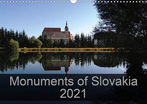 Monuments of Slovakia 2021 (Wall Calendar 2021 DIN A3 Landscape)