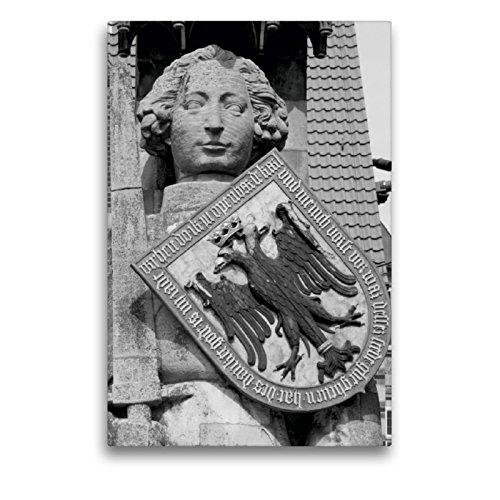 Premium Textil-Leinwand 50 x 75 cm Hoch-Format Ritter Roland in Bremen | Wandbild, HD-Bild auf Keilrahmen, Fertigbild auf hochwertigem Vlies, Leinwanddruck von kattobello