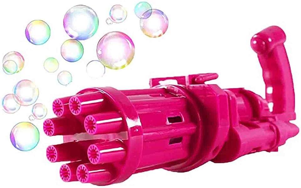 Seifenblasenpistole Kinder Gatling Bubble Machine Seifenblasen Pistole Nachfüllflasche 2021 mit Licht und Musik 9 Loch Bubble Maker Maschine Elektrische Bubble Gun Spielzeug für Kleinkind