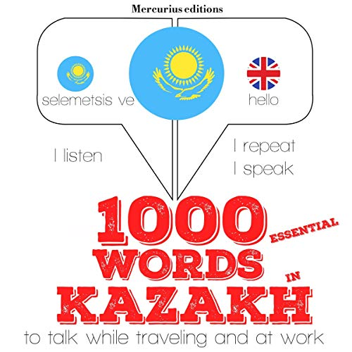 1000 essential words in Kazakh audiobook cover art