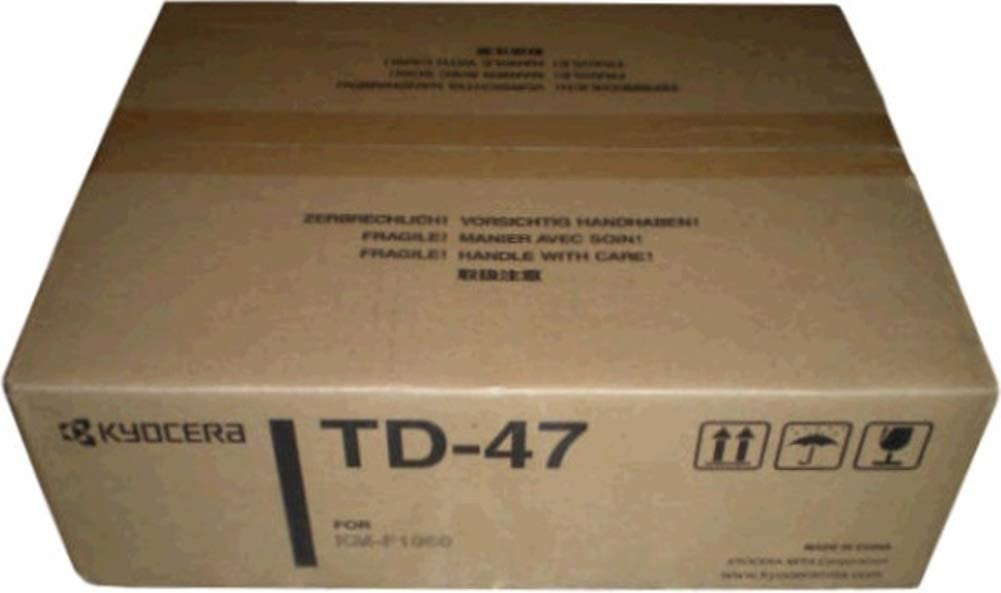 Kyocera 305GV20050 Model TD-47 Black Toner Cartridge For use with Kyocera KM-F1060 Fax Machine, Up to 5000 Pages Yield Based On @ 5% Coverage
