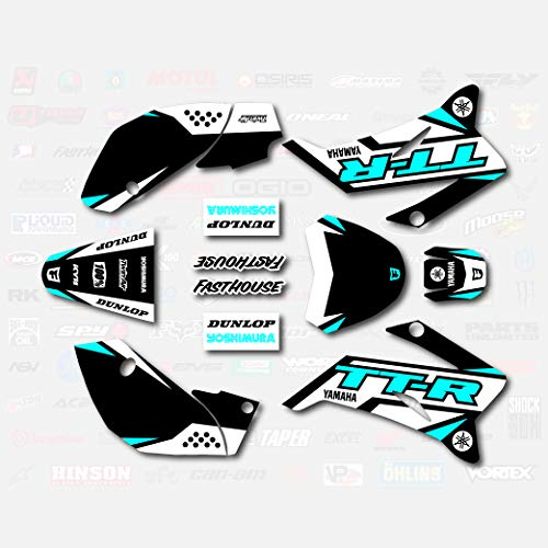 Black & Cyan Shift Racing Graphics fits 2008-2019 YAMAHA TTR 110 08-19