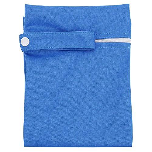 KINDOYO Sac fourre-tout organisateur de couche-culotte humide et sec de bébé de voyage (Bleu)