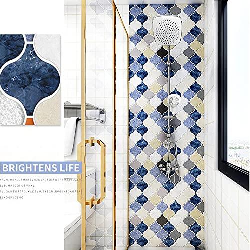 XIAOLIN Pegatinas De Azulejos De Cocina, Pared Autoadhesiva Mosaico De Mosaico Baldosas Peel And Stick Backsplash Fashion Decoration Wallpape 23.6'x39.3'(Color:04)