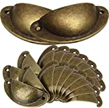 Tiradores para puertas de armario,BESTZY 20PCS Tiradores de Metal Vintage Bronce Manillas Manijas para Puertas de Muebles Antiguos Armarios Cajones de Habitación Cocina Baño