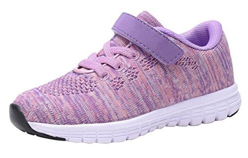 Umbale Girls Fashion Sneakers Comfort Running Shoes(Toddler/Kids) (6 M US Toddler, New Pink)