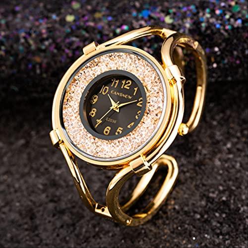 Relojes Mujer Acero Inoxidable Pulsera Pulsera Relojes Señoras Cuarzo Vestido Oro Relojes Mujer Saat Oro Negro