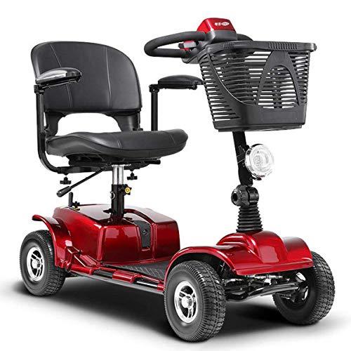 LLPDD Mobility Scooter, mini 4-wiel-elektrische voertuig, driewielige scooter, intelligente elektrische rolstoel, 3 draaistoelen, opvouwbare e-scooter voor volwassenen en Old Man