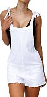 JUSTnowok Womens Vintage Straps Jumpsuits Overalls Shorts Mini Bib Casual Playsuits