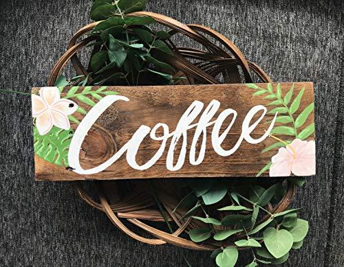 Ced454sy Koffie teken koffie koffiemok koffietafel koffiebar koffiemok houder koffie geschenk rustieke teken boerderij decor keukenbord