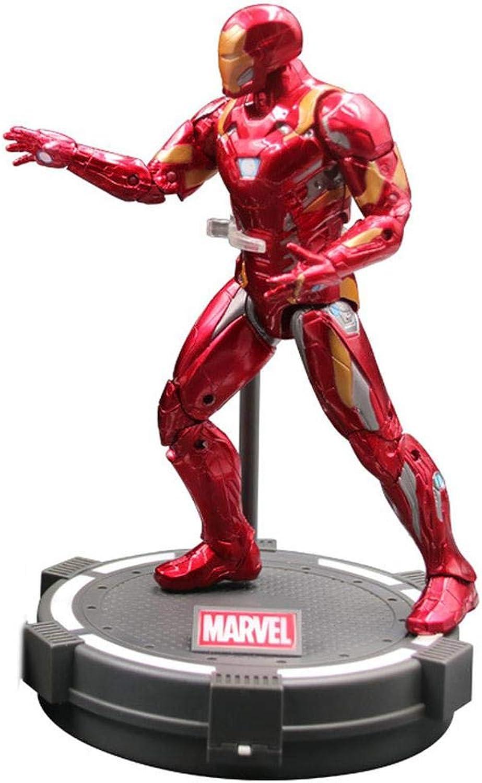 JXMODEL Les Figurines d'action Avengers Captain America et Iron Man, Les articulations sont Un Jouet pour Enfant Mobile de 7 Pouces A