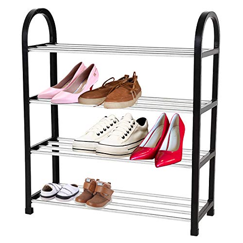 ROSEBEAR Zapatero de Pie Libre DIY Estante de Almacenamiento de Zapatos Organizador del Hogar 4 Niveles 50 * 19 * 58 Cm