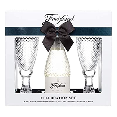 Freixenet Prosecco & 2 Cut Glass Flutes Gift Set by Blue Tree Gifts