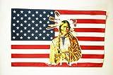 AZ FLAG Flagge USA MIT Indianer 150x90cm - VEREINIGTEN Staaten VON Amerika Fahne 90 x 150 cm - flaggen Top Qualität