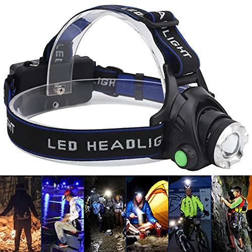 AMONIDA Linterna Frontal de Caza, Linterna Frontal LED de Tiro Largo para Caza para Acampar