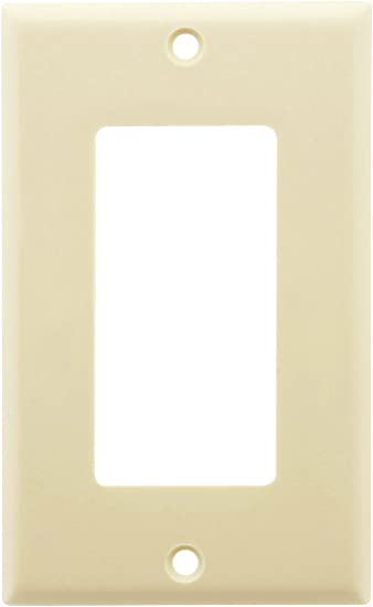 *NEW* Decorator 1-Gang Wall Plate Cover Almond Decora Lexan Lot GFCI 10 pc