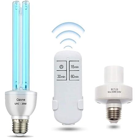 Smart Spring/® Lampada UV germicida UVC con lampadina a ozono E27 20 W 220 V Pulisce laria per la casa camera da letto cucina