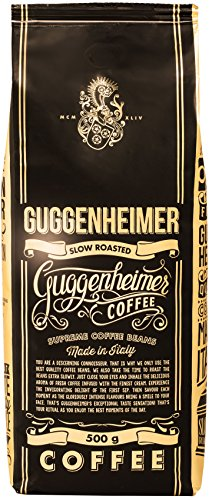 GUGGENHEIMER COFFEE - Kaffeebohnen 10kg - Extra langsam geröstet - wenig Säure und Bitterstoffe - Barista-Qualität - Feinste Crema - Bester Espresso für Vollautomaten - Aromabeutel zu 20 x 500g