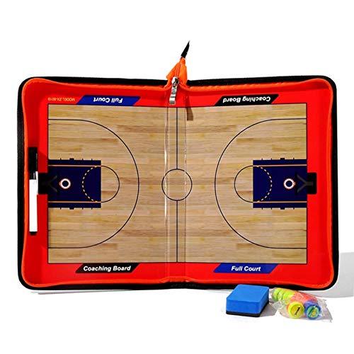 lossomly Pizarra táctica de baloncesto, tabla táctica, entrenador de baloncesto, tabla táctica, tabla de estrategia magnética, dispositivos de entrenamiento portátiles con cremallera para baloncesto