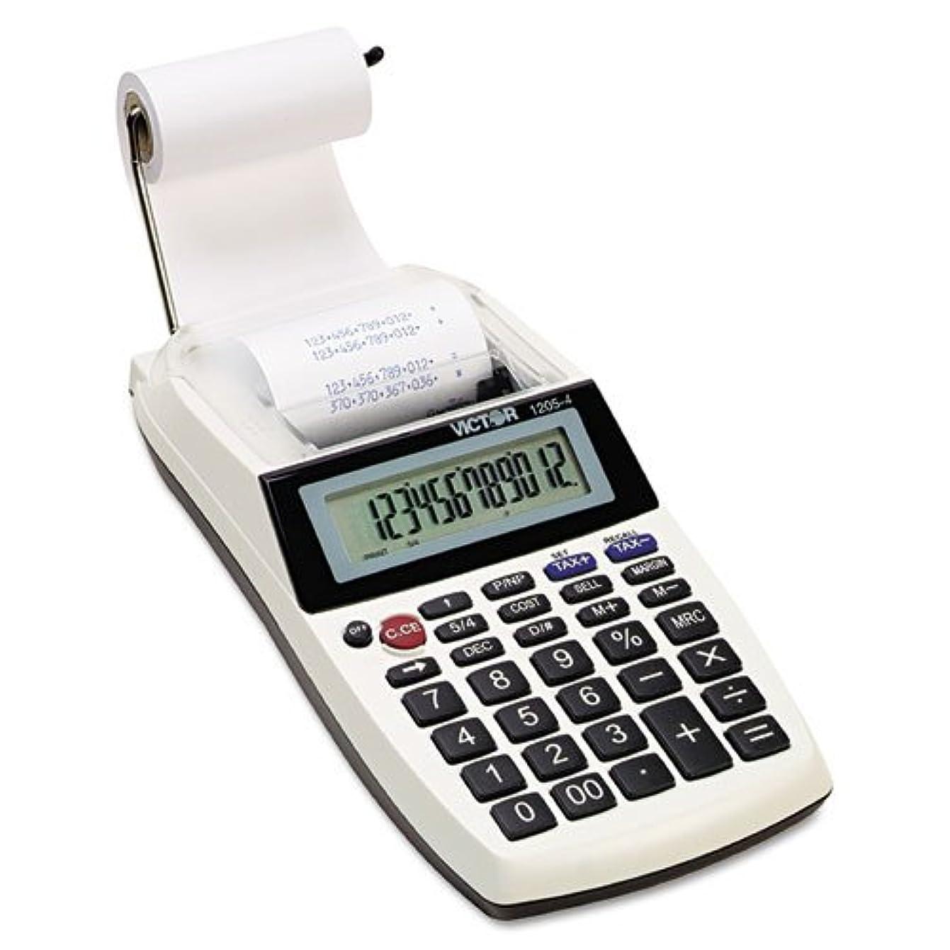 Victor Technology 12桁印刷電卓 ポータブル 印刷 4インチ x 8インチ x 2インチ