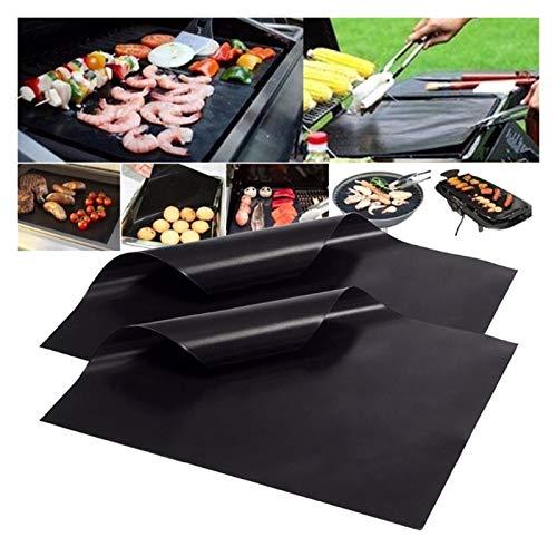 Grill Mat 33x40cm Reutilizable Non-Stick BBQ MAT a la parrilla 0.08mm de espesor PTFE PTFE Barbacoa para hornear Lineros de cocinero Pad Microondas Herramienta de horno