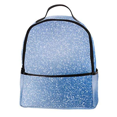 TIZORAX blauwe en witte vonken behang laptop rugzak casual schouder Daypack voor student school tas handtas - lichtgewicht
