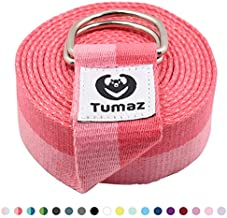 Tumaz Yoga Strap/Stretch Bands [15+ Colors, 6/8/10 Feet Options] with Extra Safe Adjustable D-Ring Buckle, Durable and Comfy Delicate Texture - Best for Daily Stretching, Physical Therapy, Fitness