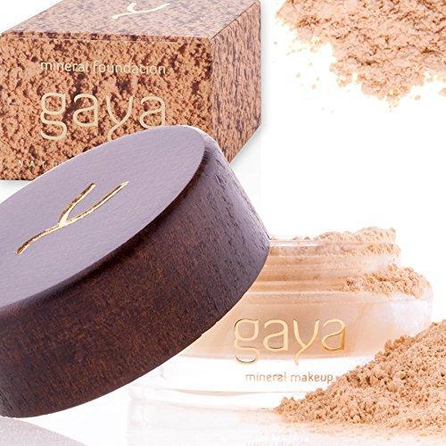 Gaya Cosmetics Foundation Make Up Puder – Vegan Mineral Professionelle Natürliche Full Coverage...