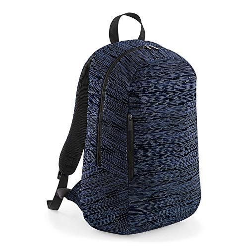 123t BG198 Duo Knit Backpack - Navy/Black Blank Plain