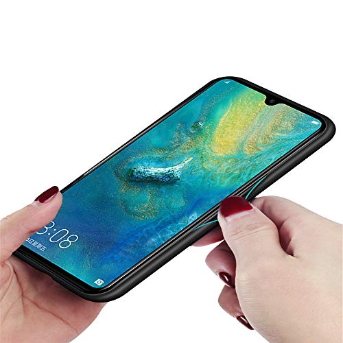 Kkkie Hülle kompatibel Huawei Mate 20, Tempered Glass Stoßfest Back Case TPU Bumper Dünn Farbverlauf Schutzhülle Kratzfest Protective Handyhülle kompatibel Huawei Mate 20 Pro (Schwarz, Mate 20 Pro) - 5