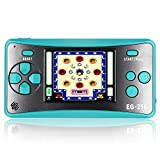 EASEGMER Handheld Game for Kids,2.5 Inch 8 Bit 200 Classic Games Built in Retro Game Machine for Kids Adult,Portable Arcade Video Game Player Support TV Player(Blue)