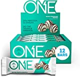 ONE Protein Bars, White Chocolate Truffle, Gluten Free Protein Bars with 20g Protein and only 1g Sugar, Guilt-Free Snacking for High Protein Diets, 2.12 oz (12 Pack)