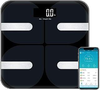 Básculas Digitales De Baño Básculas De Piso De Peso Corporal De Baño Inteligente Premium Con Pantalla Led Grande Monitor De Grasa Corporal Con Aplicación Gratuita Para Ios Y Android Bluetoot