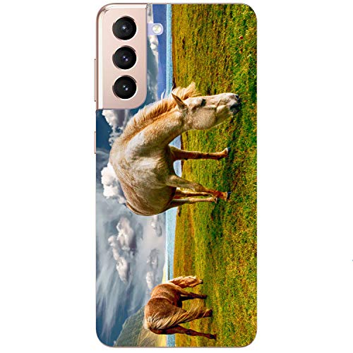 Generisch Funda blanda para teléfono móvil con diseño de caballo y pony, para Samsung Apple Huawei Honor Nokia One Plus Oppo ZTE Xiaomi Google, tamaño: Huawei P8 Lite 2017