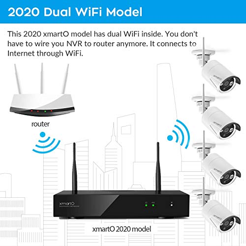 xmartO WNQ28 8 Channel 1080p Full HD Security Network Video Recorder NVR System with Built-in WiFi Router, Supports 8 Cameras, Supports up to 6TB HDD (HDD Not Included)
