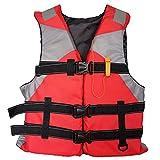 Adultos Chaleco Salvavidas Chaleco de Ayuda Kayak Esquí Flotabilidad Pesca Deportes Acuáticos al Aire Libre Chaquetas Salvavidas Ajustable (Rojo)