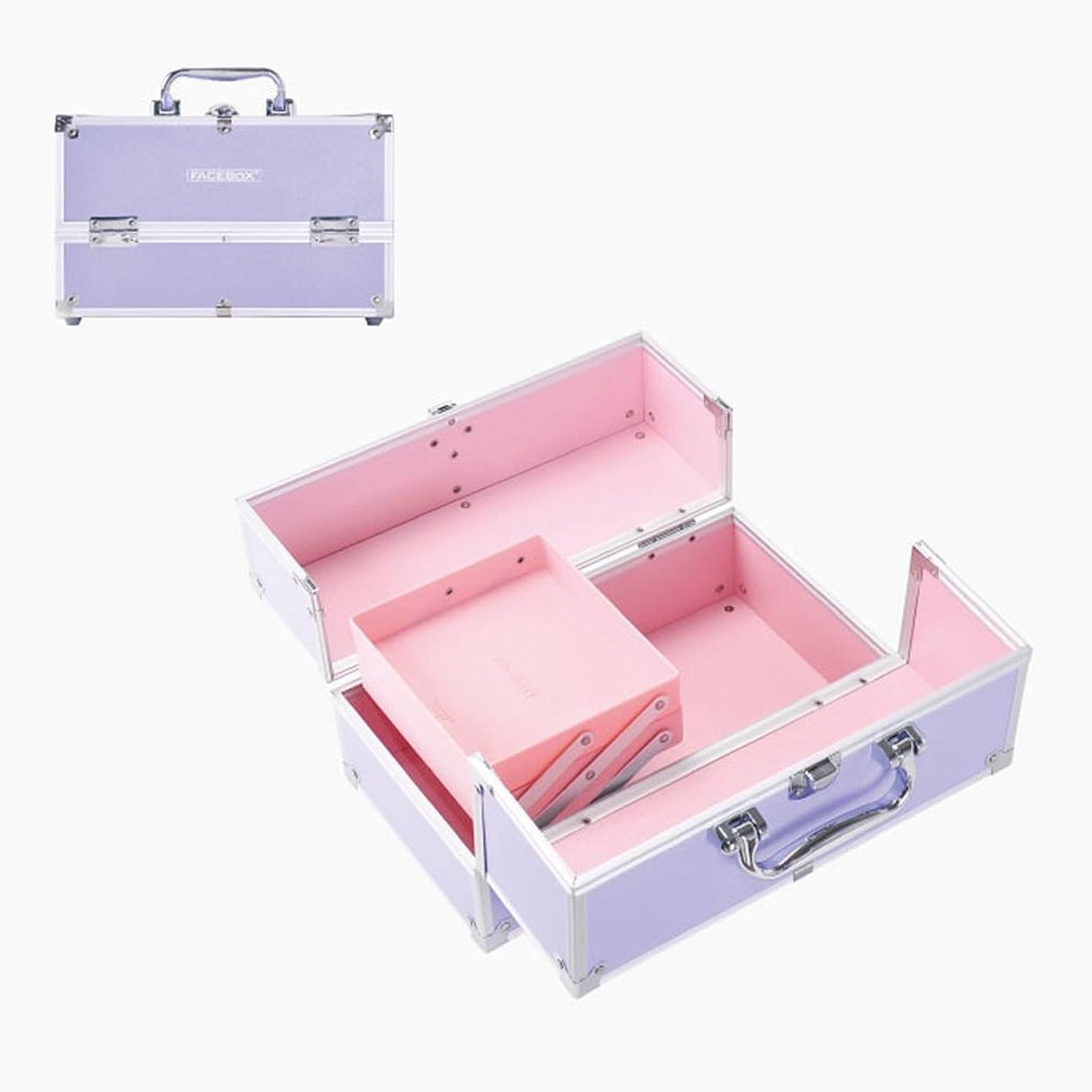 作業派手スロー「XINXIKEJI」メイクボックス コスメボックス 大容量 2段/3段 化粧ボックス スプロも納得 収納力抜群 鍵付き かわいい 祝日プレゼント  取っ手付 コスメBOX