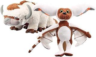 2 Pcs Avatar Last Airbender Appa & Momo Plush Toy Soft Stuffed Animals Cattle and Bat Doll Children Toys Detazhi
