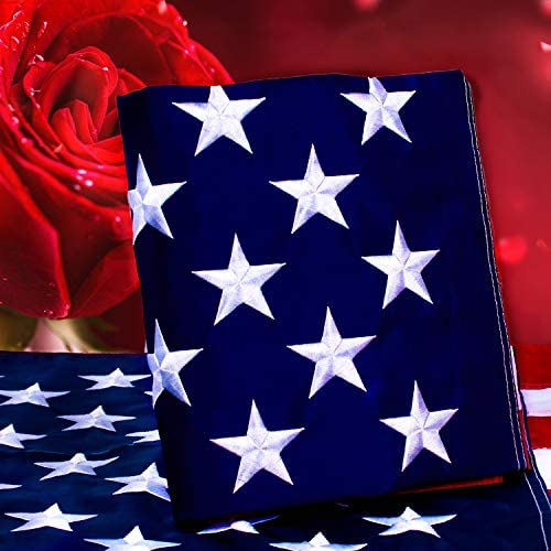 Kerothen American Flag 3x5 USA Flag Made in USA Outdoor Us Flags Large Sewn Nylon American Flag product image